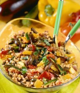 Полба с острыми овощами