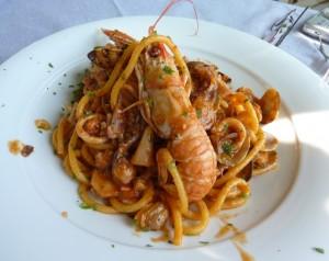 Биголи с морепродуктами