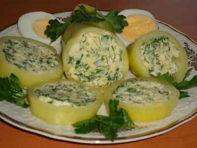 Перец с сыром и зеленью