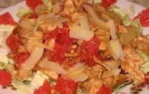 Салат из грейпфрутов с говядиной