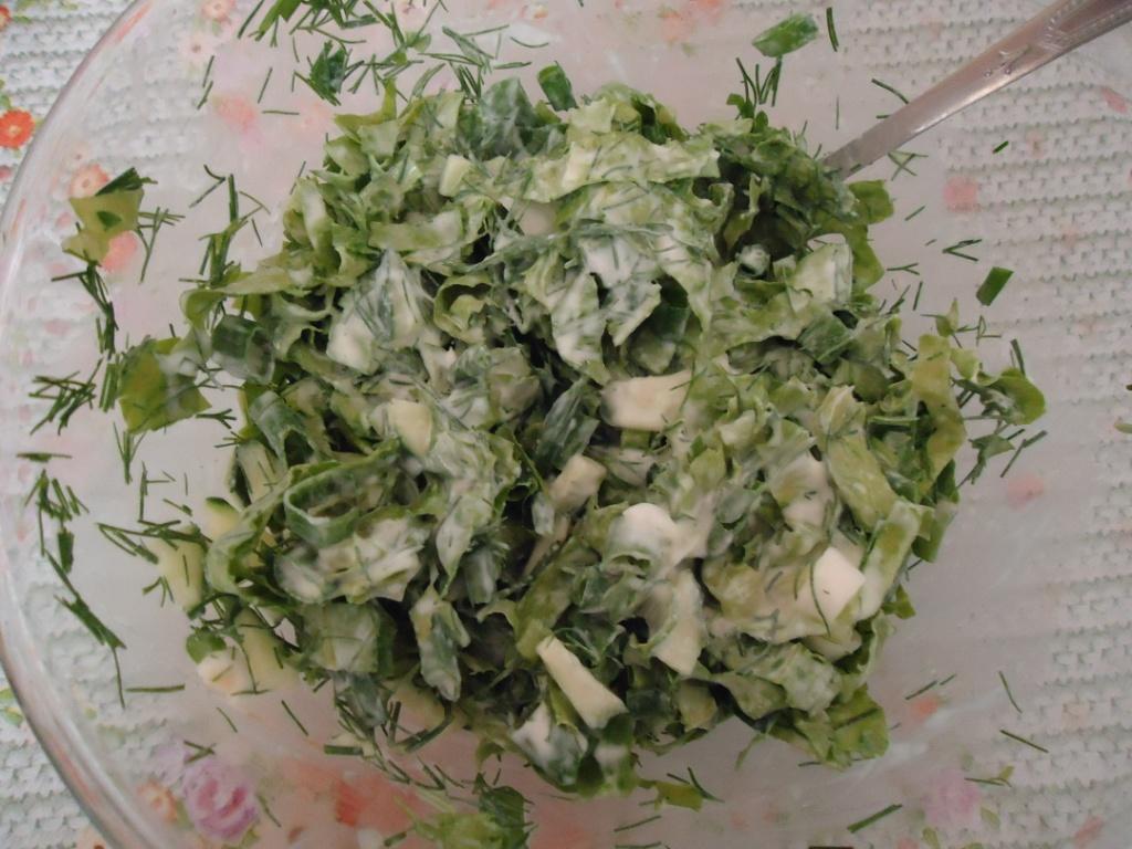 Салат из свежей зелени