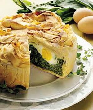 Пасхальный пирог со шпинатом